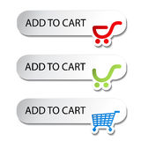 Shopping cart item - add buttons Royalty Free Stock Photography