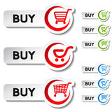 Shopping cart item - buy button Stock Image