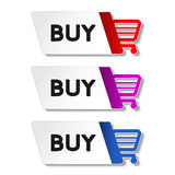 Shopping cart item - buy button Royalty Free Stock Images
