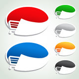 Shopping cart item, trolley, oval button Stock Images