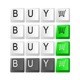Shopping cart key. Keyboard keys with shopping cart icon. Vector available Stock Photos