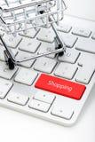 Shopping Cart and keyboard Royalty Free Stock Photography