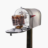 Shopping cart in large mailbox Royalty Free Stock Photos