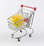 Shopping cart and lemon Stock Photo