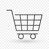 Shopping cart line icon, outline vector sign, linear style pictogram isolated on white. Symbol, logo illustration. Editable stroke stock illustration