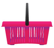 Shopping basket of plastic Royalty Free Stock Photography
