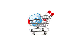 Shopping cart with medical Stock Photography