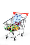 Shopping cart and medicine Royalty Free Stock Photos