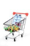 Shopping cart and medicine Royalty Free Stock Photos