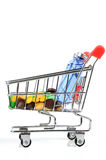 Shopping cart and medicine Stock Image