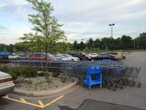 Shopping cart mingle. Hoard if carts stock photos