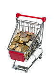 Shopping Cart with money Stock Photo