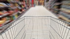 Shopping cart and motion blur Stock Photos