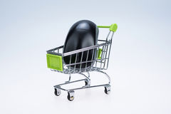 Shopping cart and mouse Royalty Free Stock Image