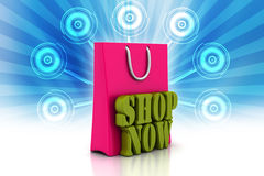 Shopping cart with offer Royalty Free Stock Photo