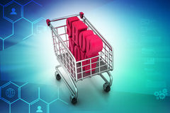 Shopping cart with offer Royalty Free Stock Images