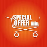 Shopping Cart On A Bright Background Royalty Free Stock Images