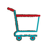 Shopping cart online delivery market empty sketch Stock Images