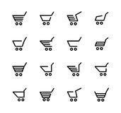 Shopping cart for online stores Stock Images