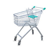 Shopping cart  over white Royalty Free Stock Photography