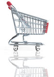 Shopping cart. Over a white background Stock Photo