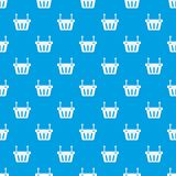 Shopping cart pattern seamless blue Stock Photography