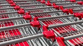 Shopping cart pattern Stock Photography