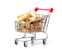 Shopping Cart with Peanuts Stock Photography