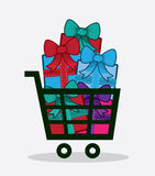 Shopping Cart Presents Royalty Free Stock Images