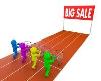 Shopping cart race Stock Photos