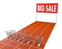 Shopping cart race Stock Image