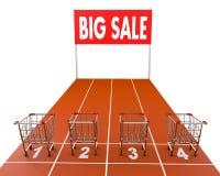 Shopping cart race Royalty Free Stock Image