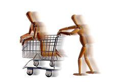 Shopping Cart racing Royalty Free Stock Images