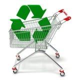 Shopping cart recycling Stock Photos
