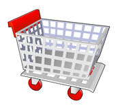 Shopping cart red Royalty Free Stock Photos
