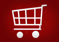 Shopping Cart red. Graphic illustration image Stock Photography