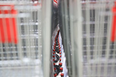 Shopping cart,red Royalty Free Stock Image