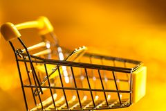 Shopping cart retail concept Stock Photo