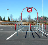Shopping cart return area Royalty Free Stock Photography