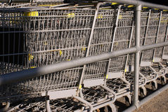Shopping Cart Return Area Royalty Free Stock Image