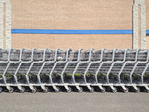 Shopping cart row Royalty Free Stock Photos