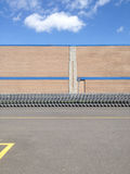 Shopping cart row Stock Image