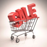 Shopping Cart Sale Royalty Free Stock Photography