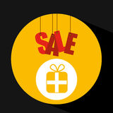 Shopping cart sale gift box icon Royalty Free Stock Images