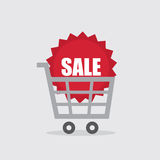 Shopping Cart Sale Sticker Stock Images