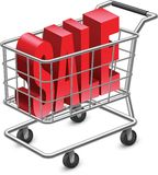 Shopping. Cart with 'SALE' text Stock Illustration
