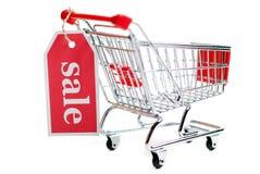 Shopping Cart Sale V3. Shopping cart sale isolated on white background Royalty Free Stock Photography