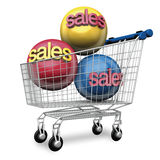 Shopping cart sales Stock Photo