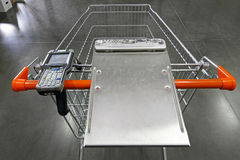 Shopping cart scanner Stock Images