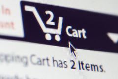 Shopping Cart Screen Stock Photography